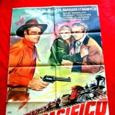 Cine: UNION PACIFICO CARTEL ORIGINAL EN PERFECTO ESTADO JOEL MCCREA - BARBRA STANWYCK CECIL B. DE MILLE. Lote 287912128
