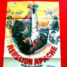 Cine: REBELION APACHE CARTEL ORIGINAL EN PERFECTO ESTADO RORI CALHOUN LON CAHENEY CORINNE CALVET. Lote 287919953