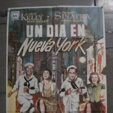 Cine: CDO M375 UN DIA EN NUEVA YORK GENE KELLY FRANK SINATRA ALVARO POSTER ORIGINAL 70X100 ESPAÑOL R-68. Lote 287938453