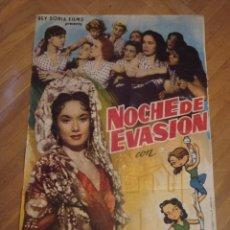 Cine: ANTIGUO CARTEL DE CINE ORIGINAL AÑOS 60 NOCHE DE EVASIÓN. Lote 287958788