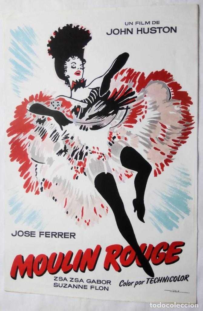 MOULIN ROUGE, CON JOSÉ FERRER. PÓSTER. 65 X 96 CMS. DISEÑO: MAC. (Cine - Posters y Carteles - Musicales)