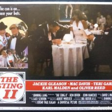 Cine: THE STING II LOBBY CARD,USA,1982,JACKIE GLEASON,NUMERO 6. Lote 288033383