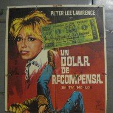 Cine: CDO M414 UN DOLAR DE RECOMPENSA PETER LEE LAWRENCE ROMERO MARCHENT SPAGHETTI POSTER ORIG ESTR 70X100. Lote 288062023