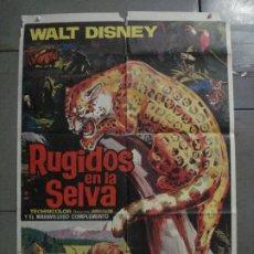 Cine: CDO M415 RUGIDOS EN LA SELVA WALT DISNEY POSTER ORIGINAL 70X100 ESTRENO. Lote 288062628