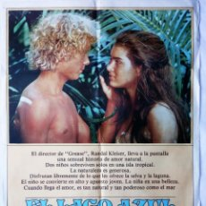 Cine: EL LAGO AZUL, CON BROOKE SHIELDS. 70 X 100 CMS. 1980.. Lote 288100158
