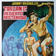 Cine: TARZAN EN EL DESIERTO MISTERIOSO, CON JOHNNY WEISMULLER. POSTER 64,5 X 93 CMS.DE JANO.. Lote 288104333