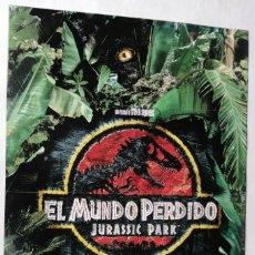 Cine: EL MUNDO PERDIDO (JURASSIC PARK), CON JEFF GOLDBLUM. POSTER DE VIDEO. 68 X 98 CMS. 1997.. Lote 288113343