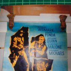 Cine: 1957 L'HOMME AYX COLTS D'ORO FONDA DOLORES MICHAELS FIMS ROBERT ALAN AYRTHUR 655. Lote 288135223