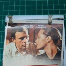 Cine: 1975 CARTEL PÓSTER AFICHE ORIGINAL LE TRAIN FILM PIERRE GRANIER/DE FERRE ROMY SCHNEIDER JEAN LUIS T. Lote 288141713