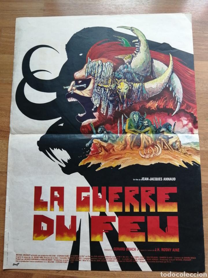 CARTEL ORIGINAL BELGA LA GUERRE DU FEU, (Cine- Posters y Carteles - Drama)