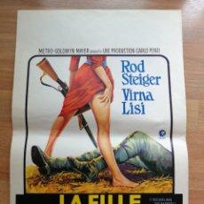 Cine: CARTEL ORIGINAL BELGA ROD STEIGER, VIRNA LISI. Lote 288168848