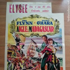 Cine: CARTEL ORIGINAL BELGA ELYSEE, ERROL FLYNN, MAUREEN O'HARA. Lote 288169138