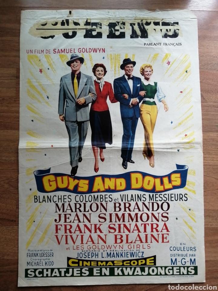 CARTEL ORIGINAL BELGA GUYS AND DOLLS, MARLON BRANDO (Cine- Posters y Carteles - Drama)