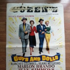 Cine: CARTEL ORIGINAL BELGA GUYS AND DOLLS, MARLON BRANDO. Lote 288169483