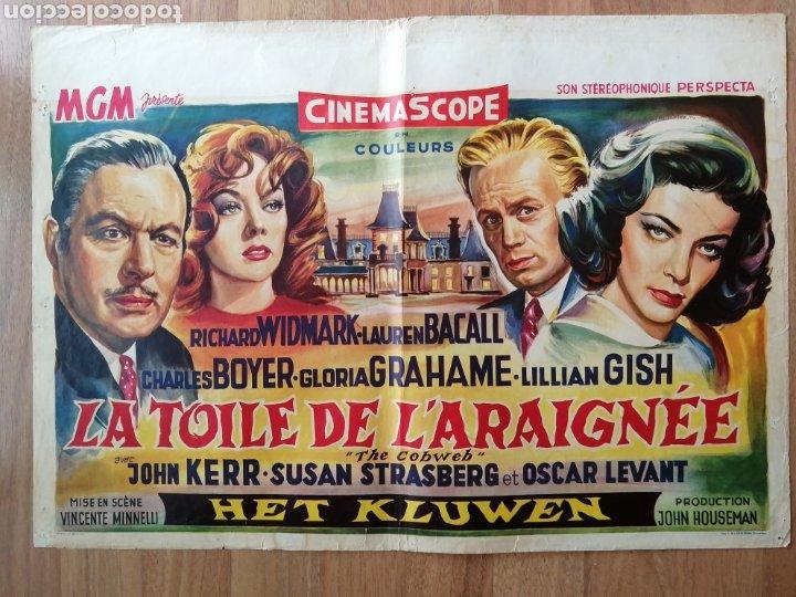 CARTEL ORIGINAL BELGA CHARLES BOYER, LAUREN BACALL, LILIAN GISH (Cine- Posters y Carteles - Drama)
