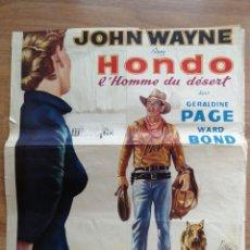 Cine: CARTEL ORIGINAL BELGA, JOHN WAYNE, HONDO. Lote 288170343