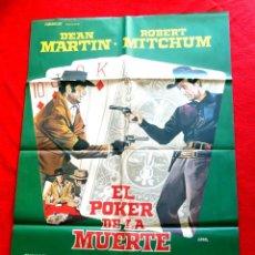 Cine: EL POKER DE LA MUERTE CARTEL ORIGINAL EN PERFECTO ESTADO DEAN MARTIN ROBERT MITCHUN. Lote 288188203