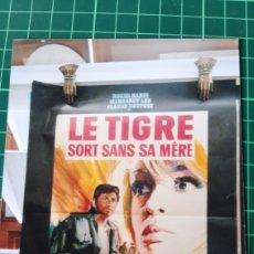 Cine: 1967 MARIO MAFFEI LE TRIGRE SIRT SANS SA MERE CARTEL PÓSTER AFICHE ORIGINAL 77.5X58.5 580. Lote 288324613