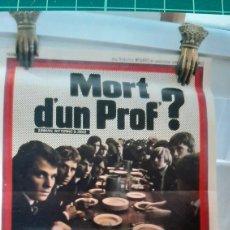 Cine: MORT D,'UN PROFESOR DAVID HEMMINGS CARTEL PÓSTER AFICHE 754. Lote 288440608