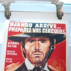 Cine: DJANGO ARRIVE..PREPAREZ VOS CERCUILS GEIRGES HILTON 758. Lote 288442613