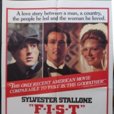 Cine: F.I.S.T. MOVIE POSTER USA,1978,STYLE B,1978,SYLVESTER STALLONE. Lote 288484428