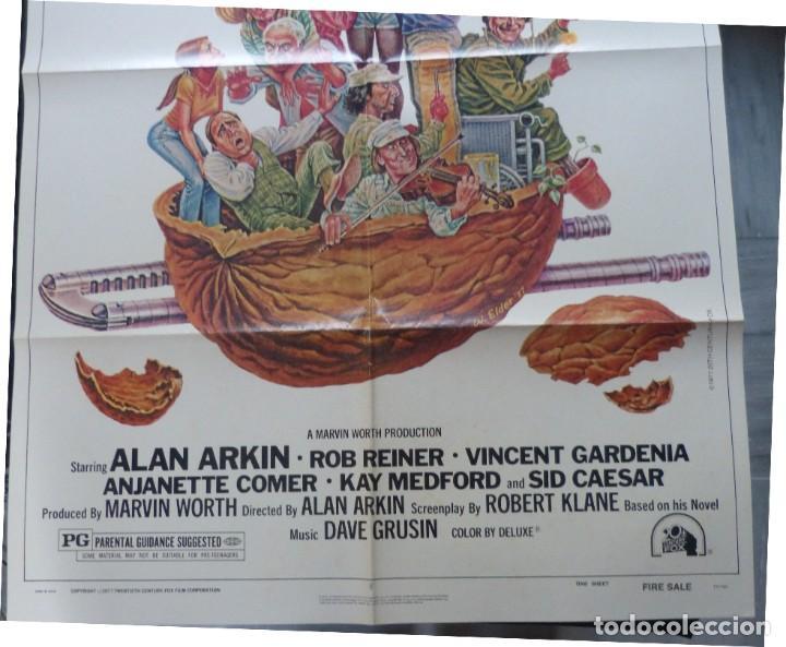 Cine: FIRESALE Movie Poster, Original,1977,Folded,1 Sheet, Alan Arkin - Foto 5 - 288484813
