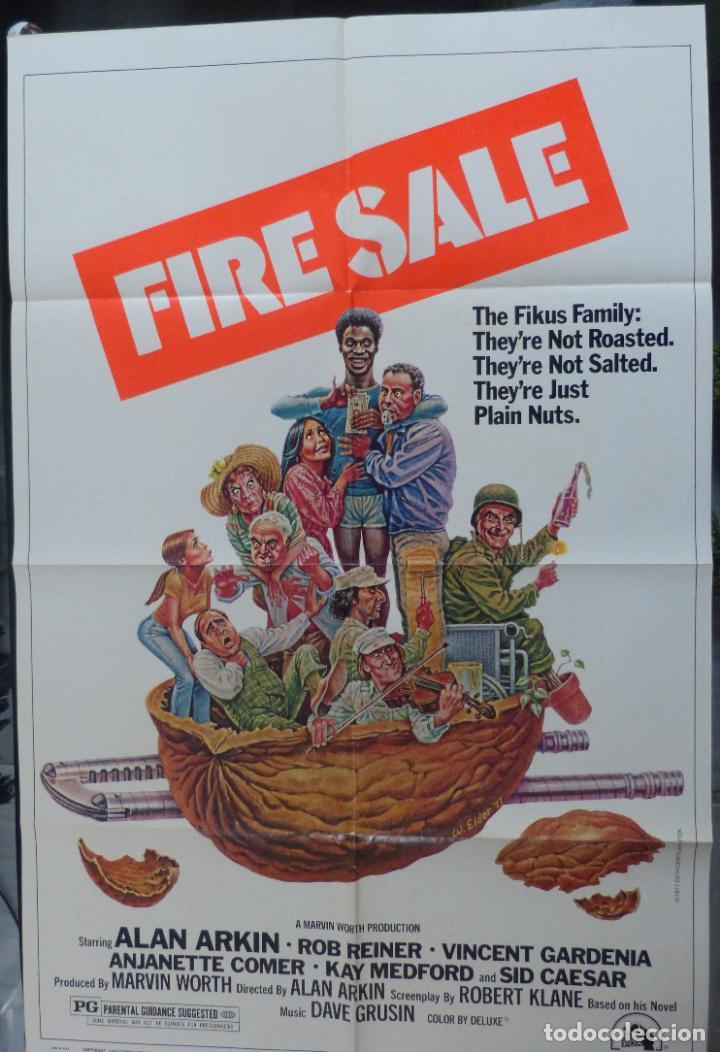 Cine: FIRESALE Movie Poster, Original,1977,Folded,1 Sheet, Alan Arkin - Foto 7 - 288484813