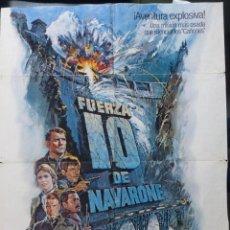 Cine: FUERZA 10 DE NAVARONE POSTER ORIGINAL INTERNACIONAL USA EN ESPAÑOL,1978,COLUMBIA PICTURES. Lote 288484993