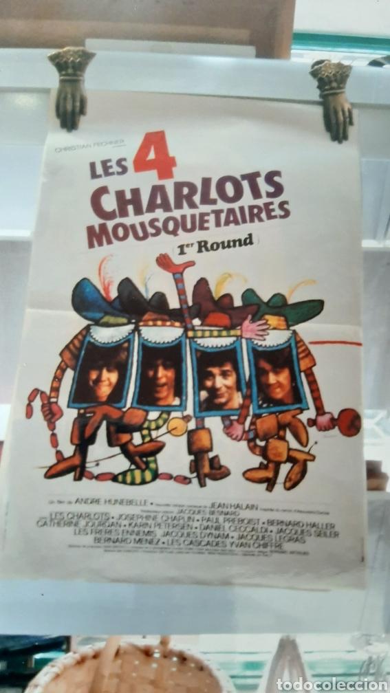 LES 4 MISQYETAURES CHARLOTS ANDRE FUNEBELLE 766 CARTEL PÓSTER AFICHE (Cine - Posters y Carteles - Comedia)