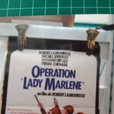 Cine: CARTEL PÓSTER AFICHE ORIGINAL OPERATION LADY MARLENE FILM ROBERT LAMOUREUX 779. Lote 288503763