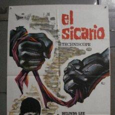Cine: CDO M437 SICARIO BELINDA LEE SYLVA KOSCINA SERGIO FANTONI ESC POSTER ORIGINAL ESTRENO 70X100. Lote 288531783