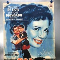 Cine: CARTEL EL SOL SALE TODOS LOS DIAS, MARISA DE LEZA, ENRIQUE DIOSDADO - AÑO 1958 - LITOGRAFIA. Lote 288540138