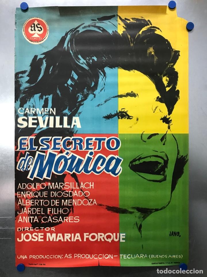 EL SECRETO DE MONICA - CARMEN SEVILLA, ADOLFO MARSILLACH, ENRIQUE DIOSDADO - AÑO 1961 (Cine - Posters y Carteles - Clasico Español)