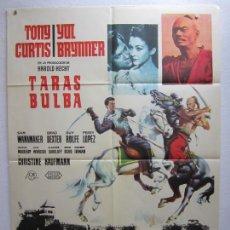 Cine: TARAS BULBA - POSTER CARTEL ORIGINAL - TONY CURTIS YUL BRYNNER J LEE THOMPSON MCP - L. Lote 288555908