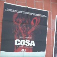Cine: CARTEL DE CINE 70X 100 APROX MOVIE POSTER VER FOTO LA COSA EL ENIGMA DE OTRO MUNDO ENNIO MORRICONE. Lote 288597833