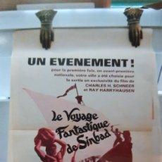 Cine: 1973 LE VOYAGE FANTASTIQUE DE SIMBAD CHARKES SCHNEER RAY HARRYHAUSEN DINARAMA CARTEL PÓSTER 795. Lote 288601113
