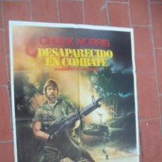 Cinéma: CARTEL DE CINE 70X 100 APROX MOVIE POSTER VER FOTO DESAPARECIDO EN CONBATE CHUCK NORRIS. Lote 288605118