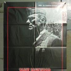 Cine: CDO M491 EL SARGENTO DE HIERRO CLINT EASTWOOD POSTER ORIGINAL 70X100 ESTRENO. Lote 288616068