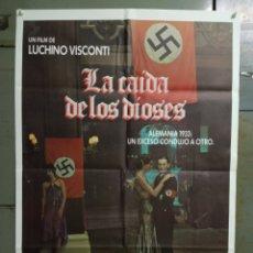 Cine: CDO M500 LA CAIDA DE LOS DIOSES LUCHINO VISCONTI POSTER ORIGINAL 70X100 ESPAÑOL R-80S. Lote 288617433
