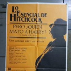 Cine: CDO M503 PERO QUIEN MATO A HARRY ALFRED HITCHCOCK POSTER ORIGINAL ESTRENO 70X100. Lote 288617783