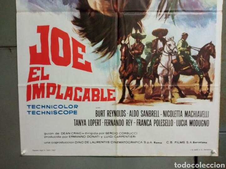 Cine: CDO M504 JOE EL IMPLACABLE BURT REYNOLDS FERNANDO REY SPAGHETTI POSTER ORIGINAL 70X100 ESTRENO - Foto 3 - 288617878