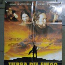 Cine: CDO M511 TIERRA DEL FUEGO JORGE PERUGORRIA ORNELLA MUTI POSTER ORIGINAL ESTRENO 70X100. Lote 288621418