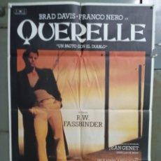 Cine: CDO M517 QUERELLE FASSBINDER BRAD DAVIS GAY CULT POSTER ORIGINAL 70X100 ESTRENO. Lote 288622138