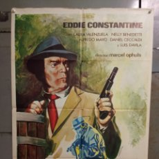 Cine: CDO M521 HAGAN JUEGO SEÑORAS EDDIE CONSTANTINE LAURA VALENZUELA EURO SPY POSTER ORIG ESTRENO 70X100. Lote 288622753