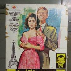 Cine: CDO M523 LA ULTIMA VEZ QUE VI PARIS ELIZABETH TAYLOR POSTER ORIGINAL ESTRENO 70X100. Lote 288622993