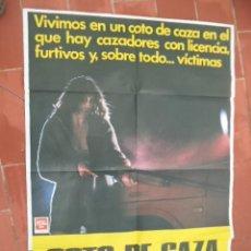 Cine: CARTEL DE CINE 70X 100 APROX MOVIE POSTER VER FOTO COTO DE CAZA JORGE GRAU ASSUMPTA SERNA. Lote 288639903