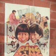 Cine: CARTEL DE CINE 70X 100 APROX MOVIE POSTER VER FOTO PING Y PONG ERESE UNA VEZ EN CHINA YU CHIH PING. Lote 288644953