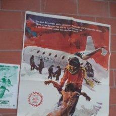 Cine: CARTEL DE CINE 70X 100 APROX MOVIE POSTER + GUIA VER FOTOS SUPERVIVIENTES DE LOS ANDES. Lote 288649093