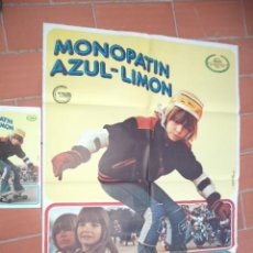 Cinéma: CARTEL DE CINE 70X 100 APROX MOVIE POSTER + GUIA DOBLE VER FOTOS MONPATIN AZUL LIMON MICHAEL SCHOCK. Lote 288649988