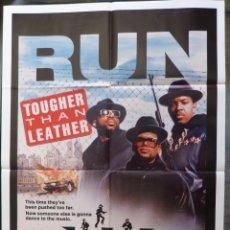 Cine: TOUGHER THAN LEATHER MOVIE POSTER,YEAR 1988 ,27X41,ORIGINAL USA,DANIEL SIM. Lote 288668933